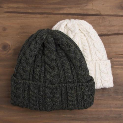 Irish Aran Knit Wool Hat 'Galway Bay'