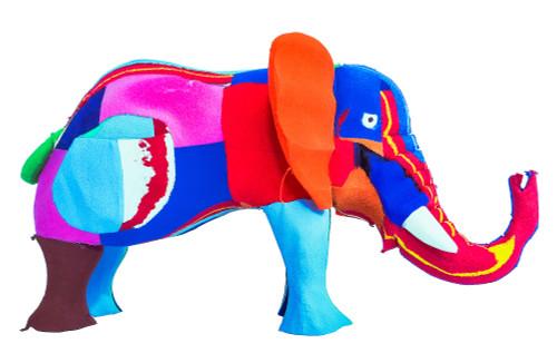 Eco-Friendly Medium Recycled Flip-Flop Elephant Sculpture 'Elephant'