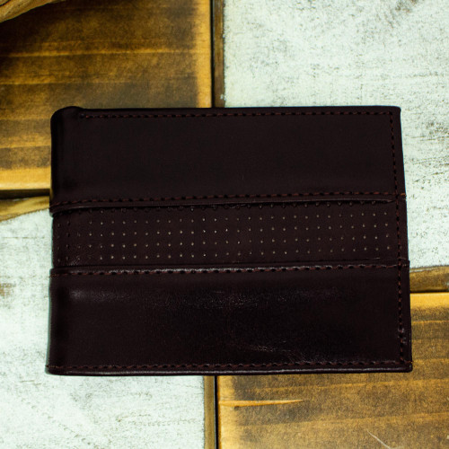 Hand Crafted Brown Leather Wallet for Men 'Off Road in Brown'