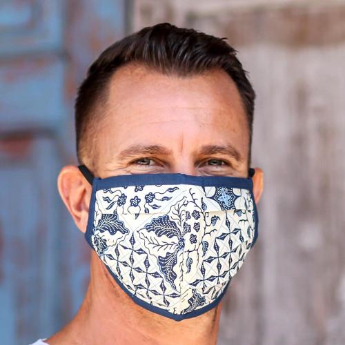Set of 3 Batik Face Masks with Elastic Ear Loops 'Batik Protection'
