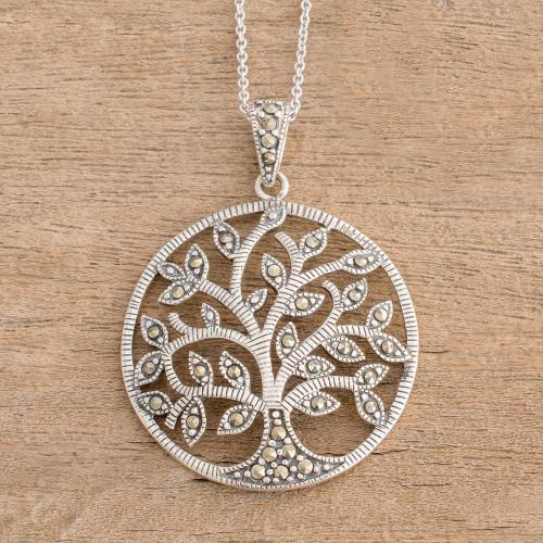 Irish Tree of Life Necklace with Marcasite 'Irish Tree of Life'
