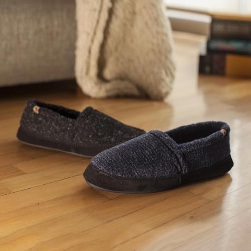 Cloud Cushion Men's Fleece Moccasin Slippers 'Fireside'