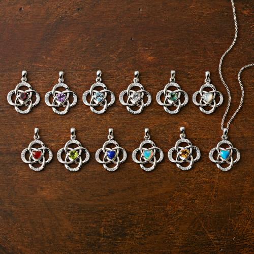 Celtic Knot Birthstone Necklace 'Celtic Knot'