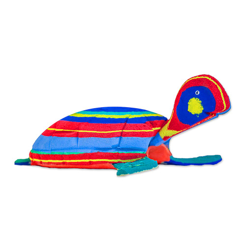 Medium Recycled Flip Flop Eco Friendly Turtle Sculpture 'Turtle'