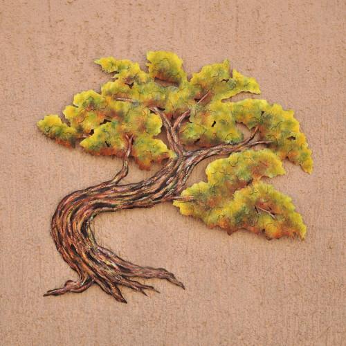 Mexican Tree Steel Wall Art 'Bonsai'