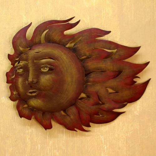 Fair Trade Steel Wall Art Sculpture 'The Sun's Song'