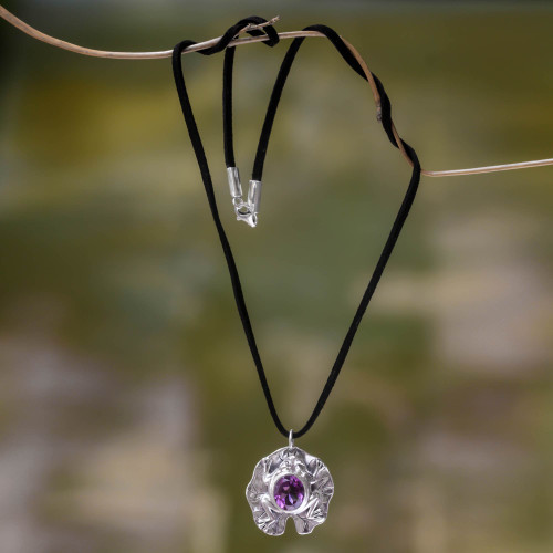 Artisan Crafted Amethyst Frog Necklace 'Frog Prince'