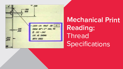 Mechanical Print Reading: Thread Specifications