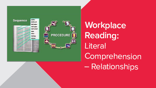 Workplace Reading: Literal Comprehension - Relationships