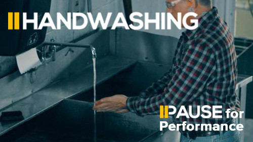 Pause for Performance:  Handwashing