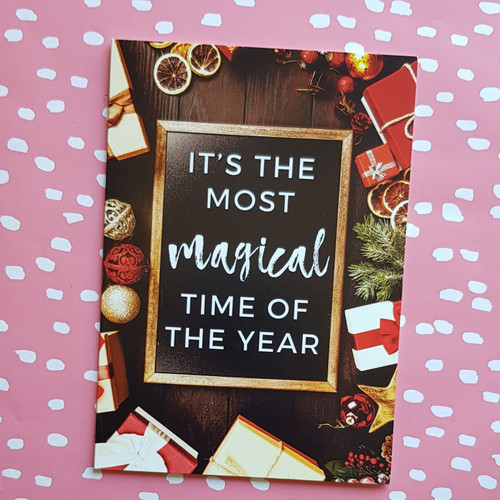 funny sarcastic sassy christmas card most magical time of the year