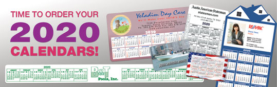 Plastic Calendars & Calendar Magnets