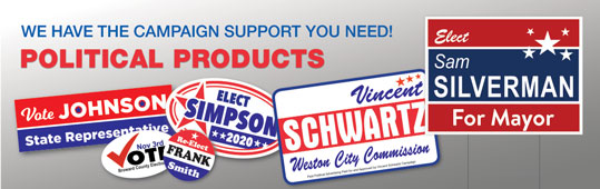 Vehicle Magnets, Signs, & Stickers for Political Campaigns