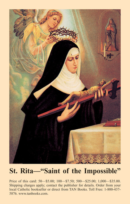 Prayer to Saint Rita Prayer Card (Pack of 100)
