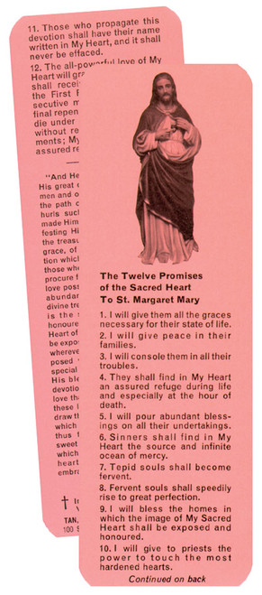 Twelve Promises of the Sacred Heart Prayer Card (Pack of 100)