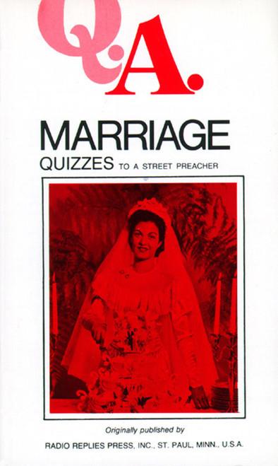 Q.A. Quizzes to a Street Preacher: Marriage (eBook)