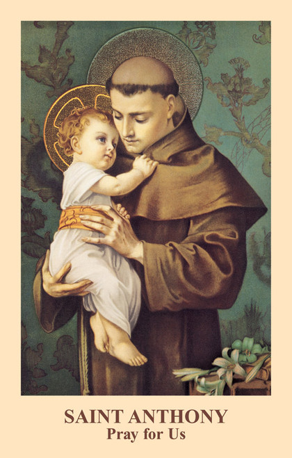 Saint Anthony Prayer Card (Pack of 100)
