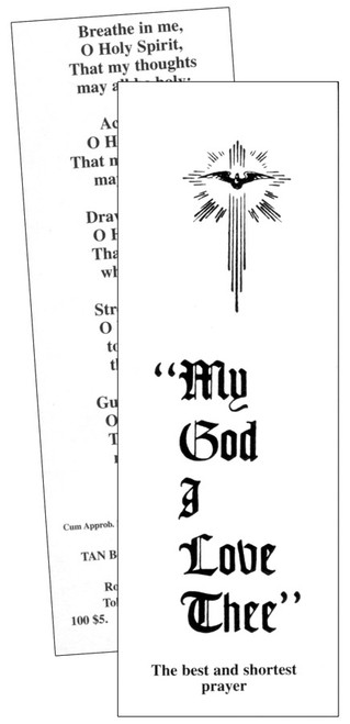 My God, I Love Thee Prayer Card (Pack of 100)