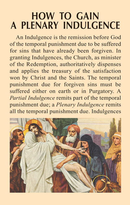 How to Gain a Plenary Indulgence Prayer Card (Pack of 100)