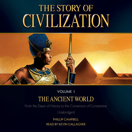 The Story of Civilization Volume 1: The Ancient World (MP3 Audiobook Download) Cover