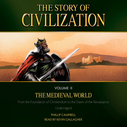 The Story of Civilization Volume 2: The Medieval World (MP3 Audiobook Download) Cover