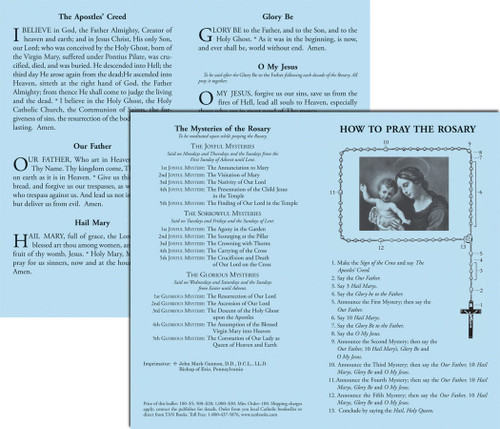How to Say the Rosary Prayer Card (Pack of 100)
