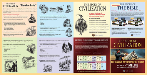 The Story of Civilization Volume 3: The Making of the Modern World (Timeline Poster)