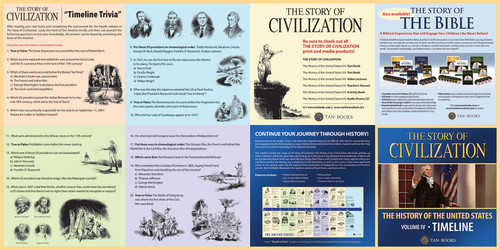 The Story of Civilization Volume 4: The History of the United States (Timeline Poster)