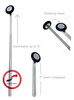 Elite Medical Instruments Telescoping Telescopic Babinski Hammer