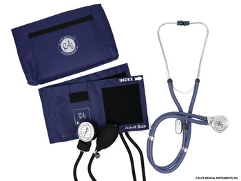 EMI Navy Aneroid Sphygmomanometer and Sprague Rappaport Manual Blood Pressure Cuff Set