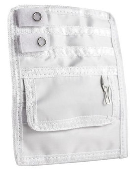 Elite Medical Instruments Nurse Nylon 5 Pocket Protector Organizer - White