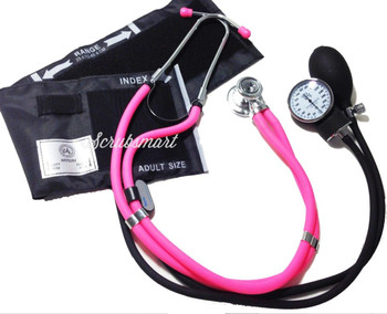 EMI Pink 340 Sprague Rappaport and Aneroid Sphygmomanometer Blood Pressure Cuff Set