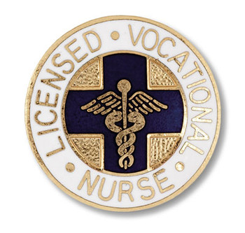 Licensed Vocational Nurse Round Pin