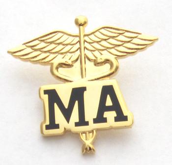 Medical Assistant MA Caduceus Pin