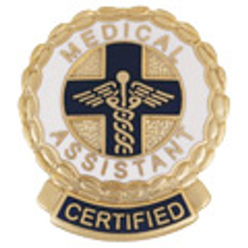EMI Certified Medical Assistant Emblem Round Pin