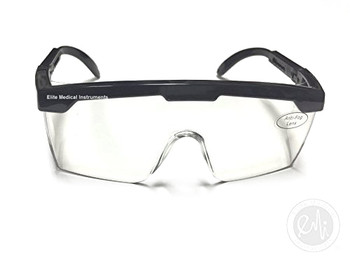 EMI # 411 Black Full Frame Adjustable Eyewear Safety Glasses
