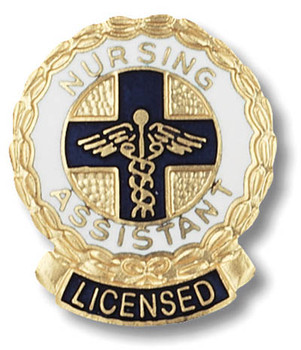 EMI Nursing Assistant LICENSED Emblem Pin - LNA