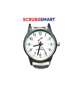 Scrub Smart Basics Ladies Watch for Nurses - White SW-W-130 (Small)