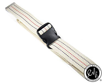"EMI 60"" White Gait Transfer Belt with Plastic Buckle 100% Cotton"