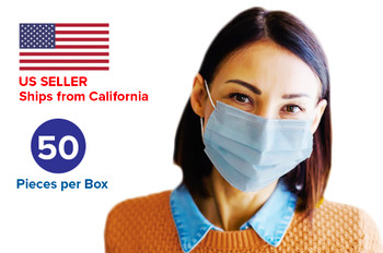 Disposable Face Mask - 50 pack per box - 500 units total.