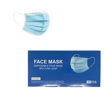3 Ply Ear Loop Face Mask.