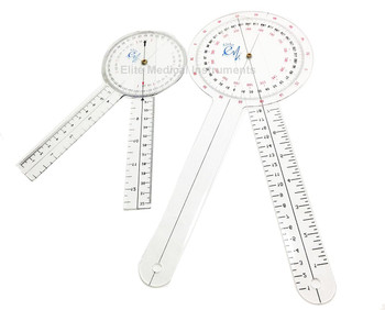"12"" and 8"" goniometer set."