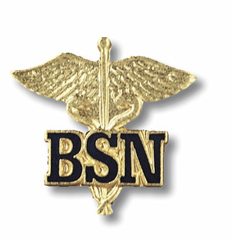 Bachelors of Science Nursing Caduceus Pin / BSN Pin