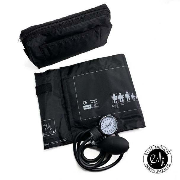 EMI Manual Blood Pressure Monitor Aneroid Sphygmomanometer with Thigh Sized Cuff