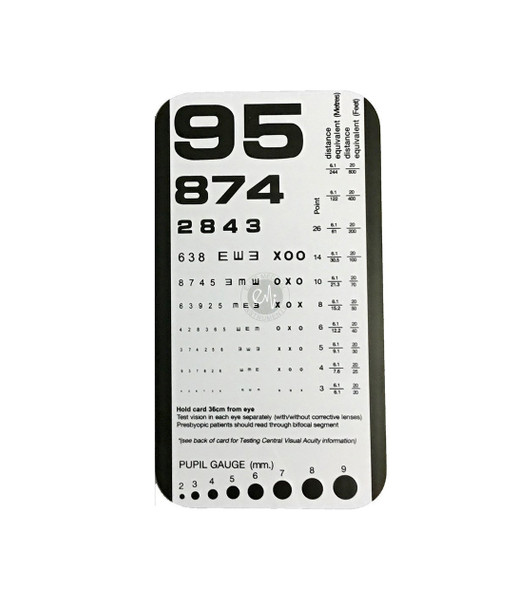 Rosenbaum Pocket Eye Chart