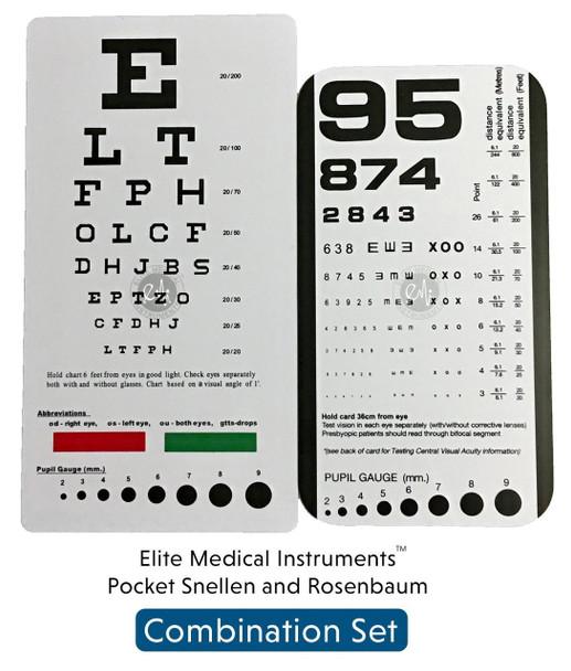 EMI Pocket Eye chart set Snellen + Rosenbaum Pocket Eye Charts - 2 Pieces EC-PSR
