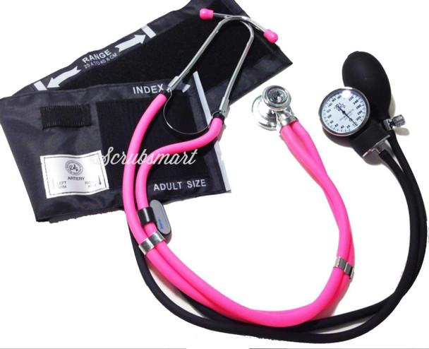 EMI Pink 340 Sprague Rappaport and Aneroid Sphygmomanometer Blood Pressure Cuff Set
