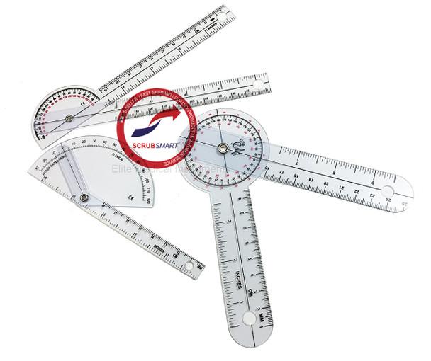 "3 Piece Pocket Goniometer Set: 6"" Goniometer, 180 degree 6"" Goniometer, Finger Goniometer EGM-430"