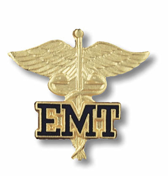 EMT Emergency Medical Technician Caduceus Emblem Pin