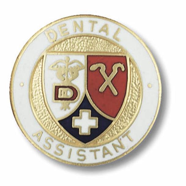 Dental Assistant Emblem Round Pin
